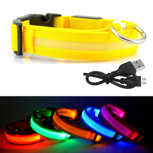 LED Dog Collar With USB Charging Cable