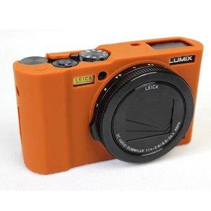 Image 2 - Nizza Schutz Körper Abdeckung Fall für Panasonic Lumix LX10 Weiche Silikon Kamera Tasche für Panasonic Lumix L X10 mit Gummi Objektiv kappe