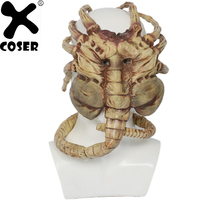XCOSER Alien Facehugger Mask Half Face High Quality Mask 1:1 Halloween Cosplay Costume Accessories Party Prop