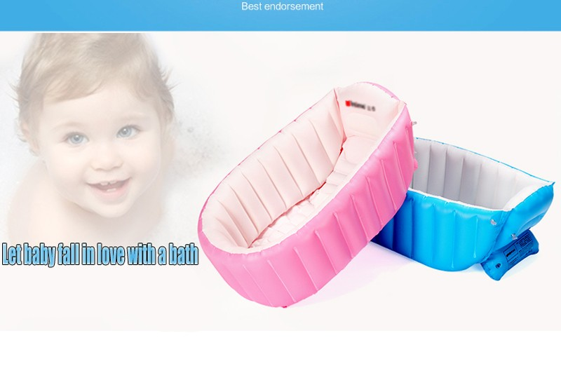 Newborn Infant Bath Seat Chair Portable Inflatable Baby Bath ...