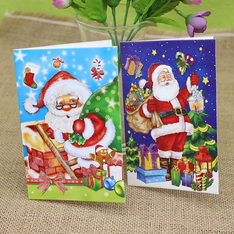 18pcspack cartoon santa claus christmas greeting card navidad 18pcspack cartoon santa claus christmas greeting card navidad postcards xmas greeting cards christmas decorations for home gift m4hsunfo