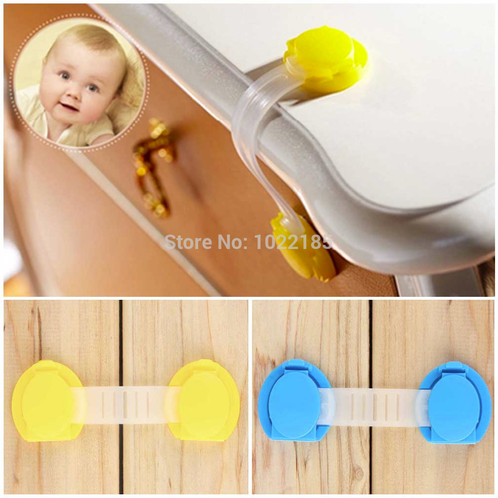 10pcs/set Cabinet Door Drawers Refrigerator Toilet Safety Plastic Lock For Child Kid baby safety smiley face door window children safety lock band 2 pack set