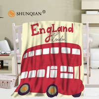 Custom Lodon England Blanket Soft DIY Picture Decoration Bedroom Size 58x80Inch,50X60Inch,40X50Inch A7.10