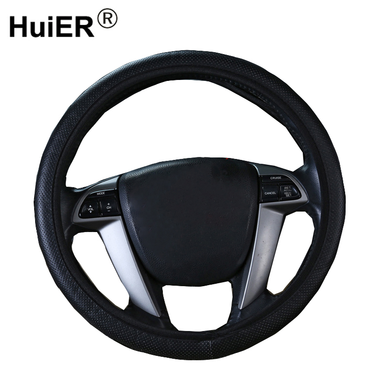 HuiER Car Steering Wheel Cover Steering Cover PVC Car Styling Breathable 37-38CM / 14.5-15 Inch Automobile Steering-wheel Cover