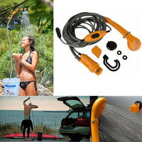Portable Car Washer 12v Electric Car Plug Outdoor Camping Hike Washer Travel Shower Pump For Camping Shower Pump Pipe Kit Hook