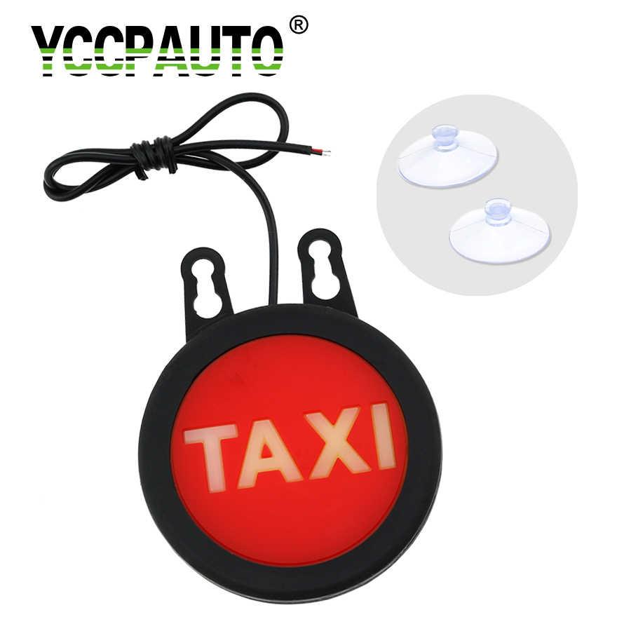 YCCPAUTO Taxi Led parabrisas del coche indicador posterior de la lámpara de señal luces de freno adicionales LED parabrisas lámparas 12 V recto redondo 1 piezas