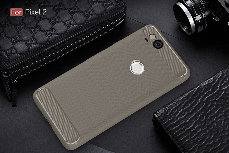 Brand Luxury Brushed TPU Case For Google Pixel 2 Silicone Cover Carbon Fiber Case For Google Pixel2 Dual Sim Coque Back Cover