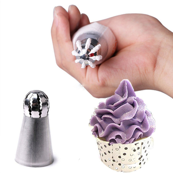 1/3PC Cupcake Stainless Steel Sphere Ball Shape Icing Piping Nozzles Pastry Cream Tips Flower Torch Pastry Tube Decoration 1