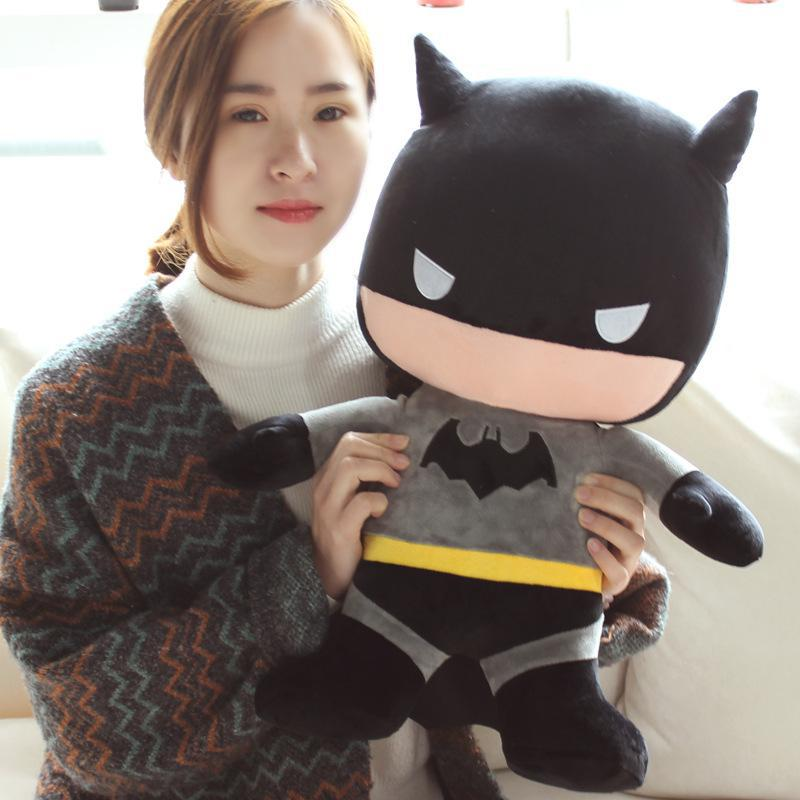 Cartoon Anime 50cm Superman Batman Funny Stuffed Soft Plush Giant Toy Nice Baby For Children Kids Birthday  Gift