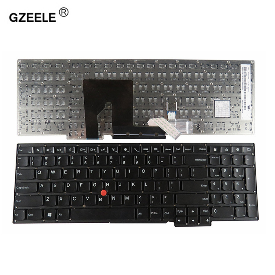 GZEELE English Backlit Keyboard for IBM Lenovo Thinkpad S5-531 S5-540 S5 S531 S540 US laptop keyboard replace new english laptop keyboard for thinkpad e531 l540 e540 w540 w541 t550 t540p us keyboard replacement fru 01ax160