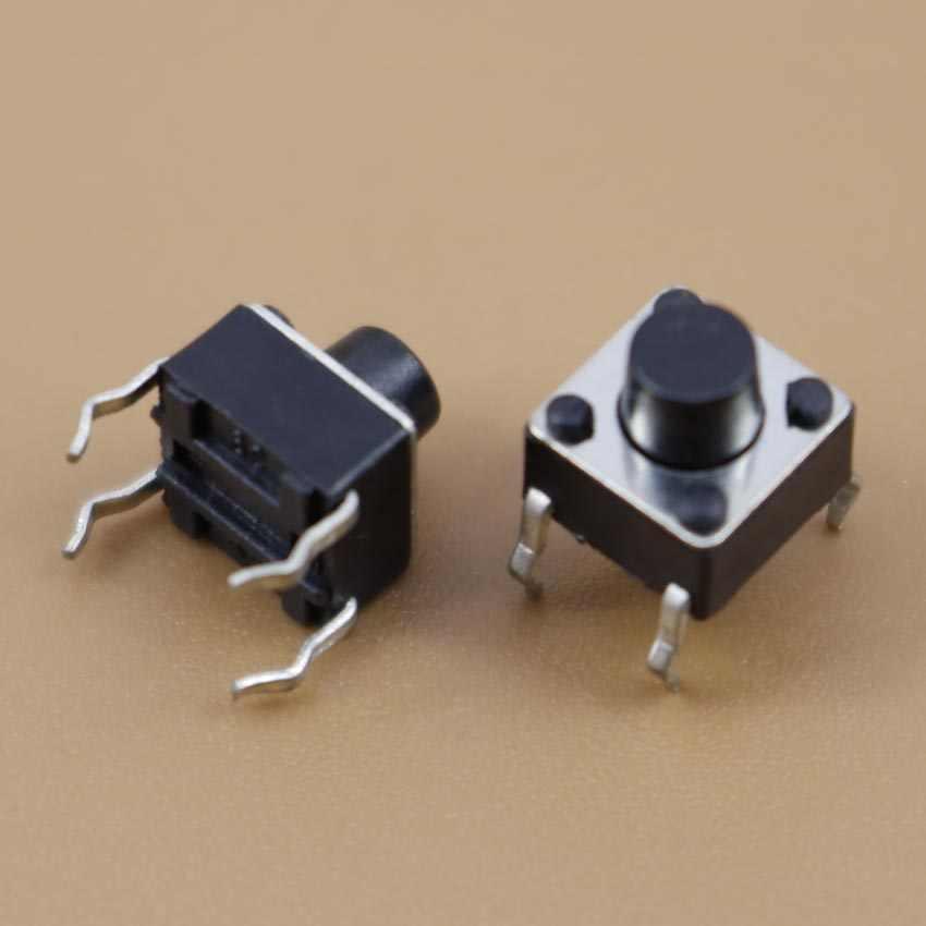 YuXi 1 sztuk 6x6x6mm miniaturowe Micro chwilowy dotykowy takt z przyciskiem dotykowym