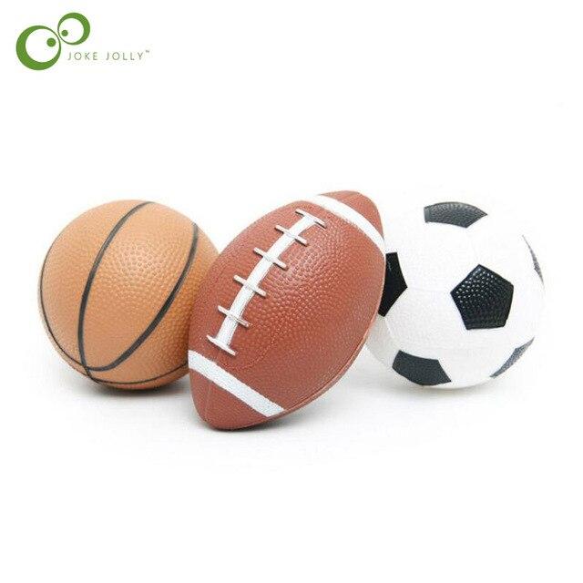 Garoto de Brinquedo Macio Brinquedo Bola de Borracha Pequena Futebol De  Rugby Basquete Esporte Crianças para 1ce27a006c563