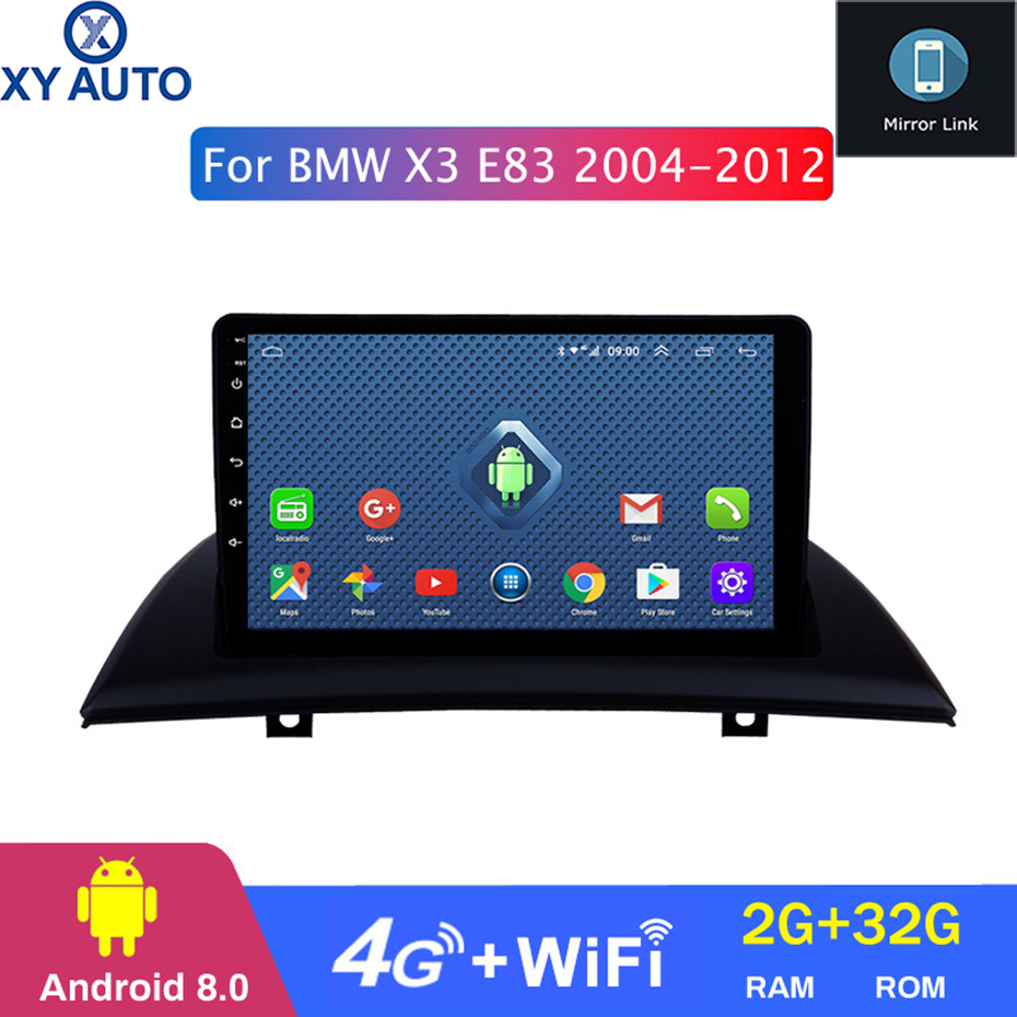 Navi Screen Android 9inch E83 Bluetooth 2004 BMW 2G X3 with USB WIFI SWC for 4G 2g-Ram