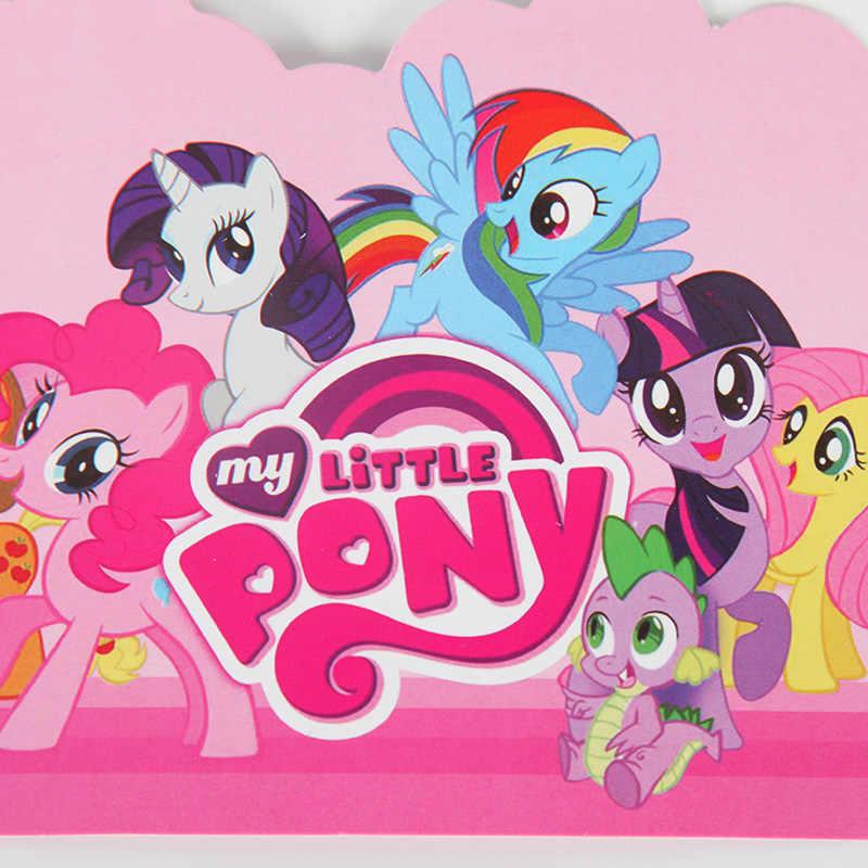 10 Pzas Lote Tarjetas De Invitación De Dibujos Animados My Little Pony Niños Decoración Para Eventos O Fiestas De Cumpleaños Suministros De Fiesta De