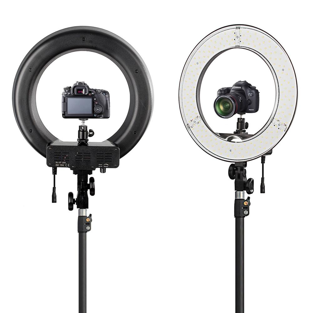 Image 2 - Fotopal Led Ring Light For Video Shoot Camera Phone Lighting With Stand Studio Photography Selfie Makeup Photo Circle Lamp-in Photographic Lighting from Consumer Electronics