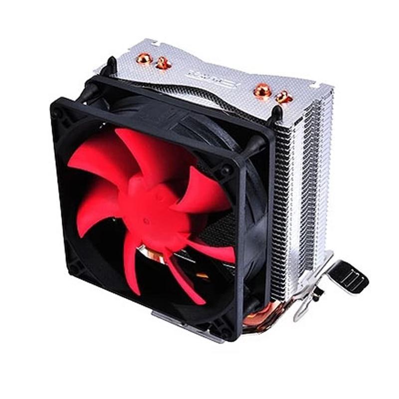 New Arrival CPU Fan Heatsink Super Mute Multi-platform Desktop Computer CPU Cooler Radiator Two Heat Pipes for AMD/INTEL