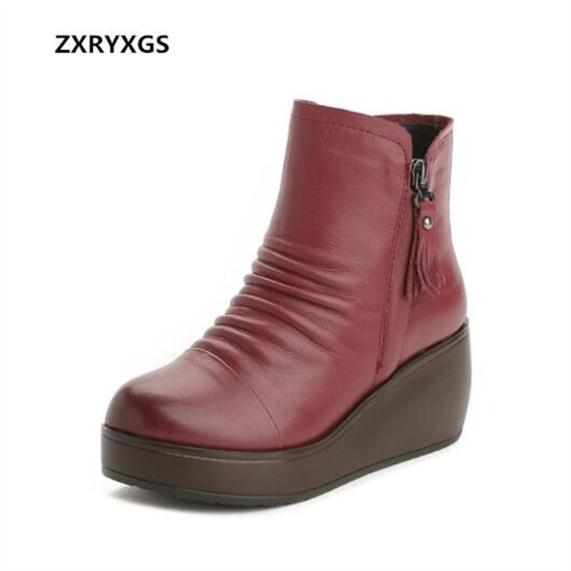 2018 Newest Fashion Autumn Winter Double Zipper Women Shoes Boots Thick-soled High Heels Casual Wild Pleated Real Leather Boots 2018 Newest Fashion Autumn Winter Double Zipper Women Shoes Boots Thick-soled High Heels Casual Wild Pleated Real Leather Boots