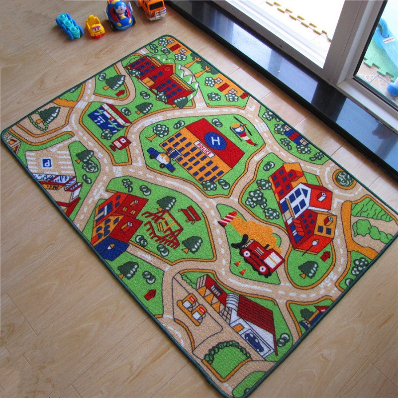2017 New Arrival Car Racing Road Baby Play Mats Developing Crawling Rug Carpet Educational Toys For Kids Games 02