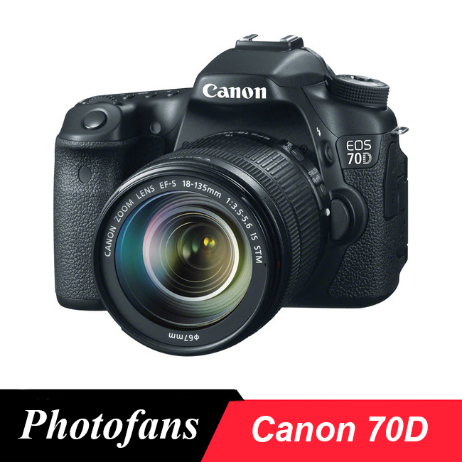 Canon 70D DSLR Camera -20.2MP -Vari-Angle Touchscreen 1080p Video Built-In Wi-Fi ...