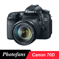 Canon 70D DSLR Camera 20.2MP Vari Angle Touchscreen Video Wi Fi