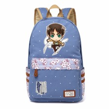 Attack on Titan Eren Mikasa  Backpack For men/Women Girls (15 styles)