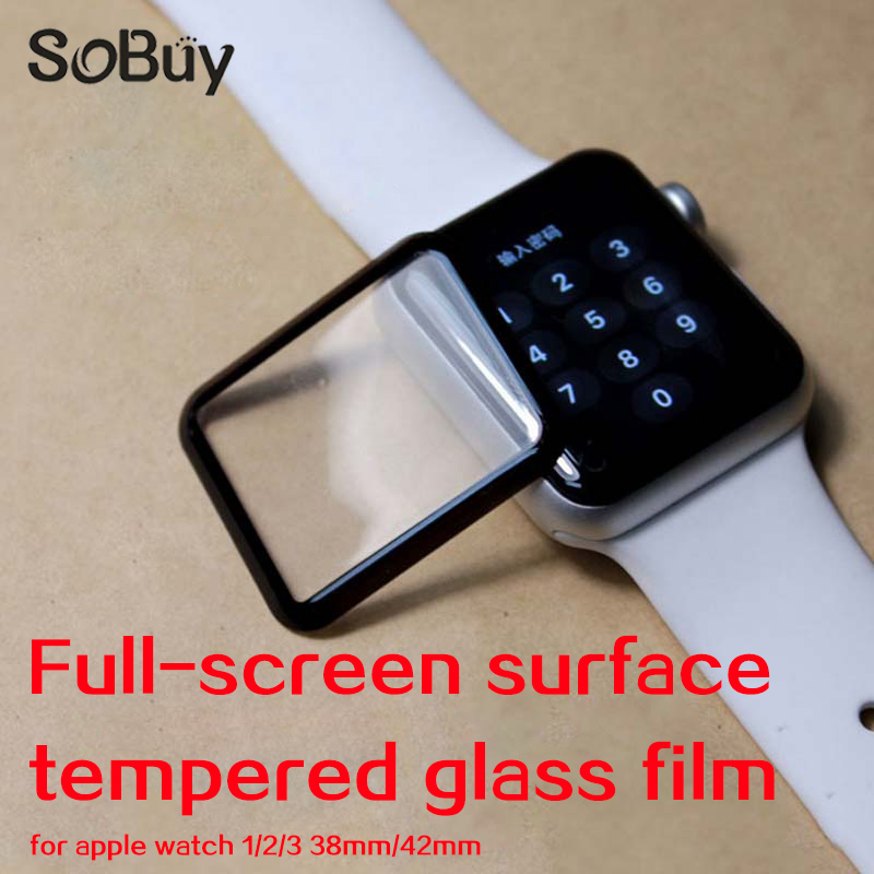 Lxsmart 4D/3D curved surface 9H Tempered film For Apple watch 1/2/3 sport Series 38mm 42mm Screen Protector i watch S1 S2 Film