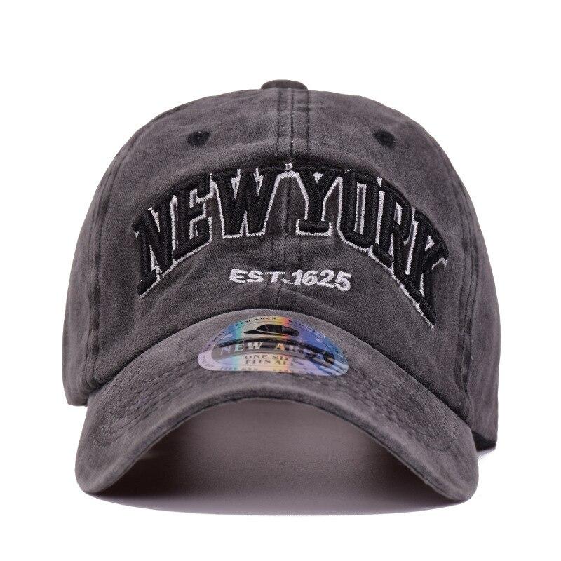 d1acaa4bb61 2018 Men Women Washed Denim Baseball Cap 3D Embroidery New York Snapback  Dad Hat Casquette Summer Cotton Sports Sun Hip Hop Hats-in Baseball Caps  from Men s ...