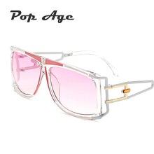 Pop Age Brand Designed Women Sunglasses Hollow Metal steam Punk Eyeglasses Classic Oval Mirror lunettes Oculos de sol