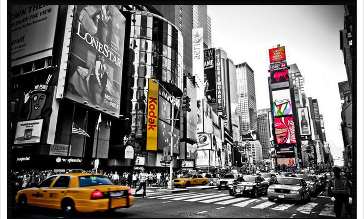 3d Wallpaper Custom 3d Wall Murals Wallpaper Vintage New Yorku0027s Times Square  TV Setting Wall Is Black And White Wallpaper In Wallpapers From Home ... Part 45
