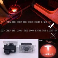2X Car LED Courtesy Door Projector Light Ghost Shadow Light For Tesla Model S Logo Power