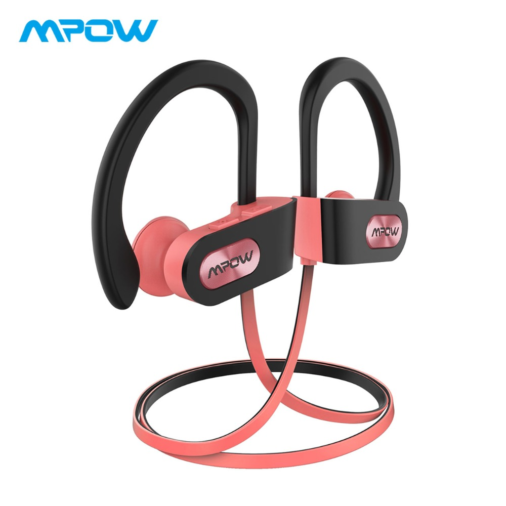 Mpow Flame Bluetooth Earphones Waterproof HiFi Stereo Sport Headphone Wireless Earbuds With Microphone&EVA Case For iPhone X/8/7 picun p8 wireless bluetooth headphone sport hifi stereo bass headsets earphones for iphone