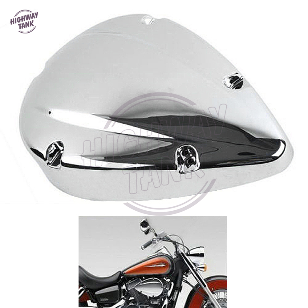 Motorcycle Air Cleaner Covers : Chrome motorcycle air cleaner filter cover case for honda