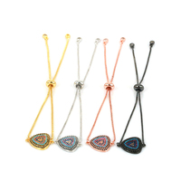Fashion Bracelet CZ Micro Paved Adjustable Link Chain Anil Arjandas Bracelet for Women/Men