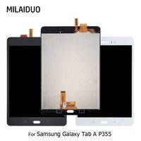 Original LCD Display For Samsung Galaxy Tab A P355 SM P355 8 Touch Screen Digitizer Full Assembly Replacement Black White