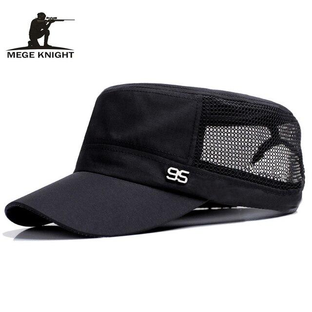 nouveau produit 5a93f 88c30 € 4.36 27% de réduction Mege marque été hommes maille casquette de Baseball  papa chapeau Patchwork Design de mode adolescent chapeau visière casquette  ...