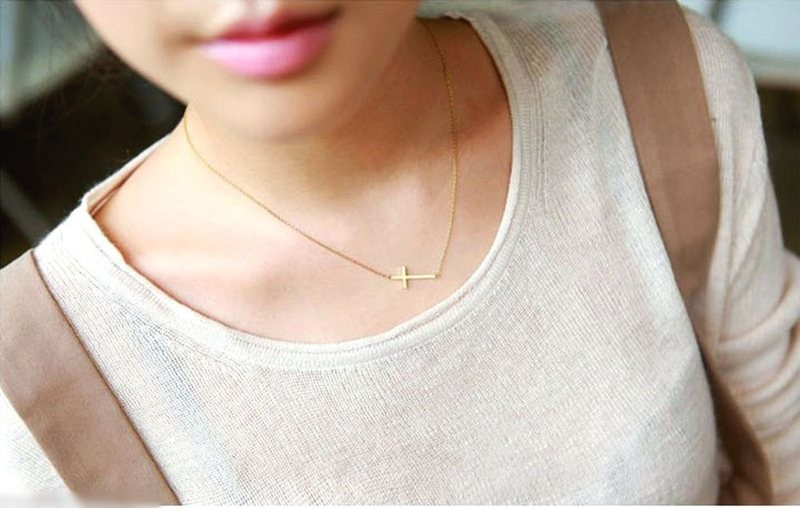 1pc new womens ladies silver horizontal sideways cross pendant 1pc new womens ladies silver horizontal sideways cross pendant necklace women chain necklace jewelry in pendant necklaces from jewelry accessories on aloadofball Gallery