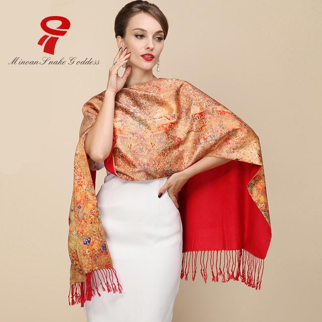 Bufanda de seda 100% Satén de Seda Larga Bufanda de Seda Pura de La Bufanda de Las Mujeres Chales pañuelo de Lujo ScarveBrand Calidad de Impresión de la Bufanda de Seda hijab