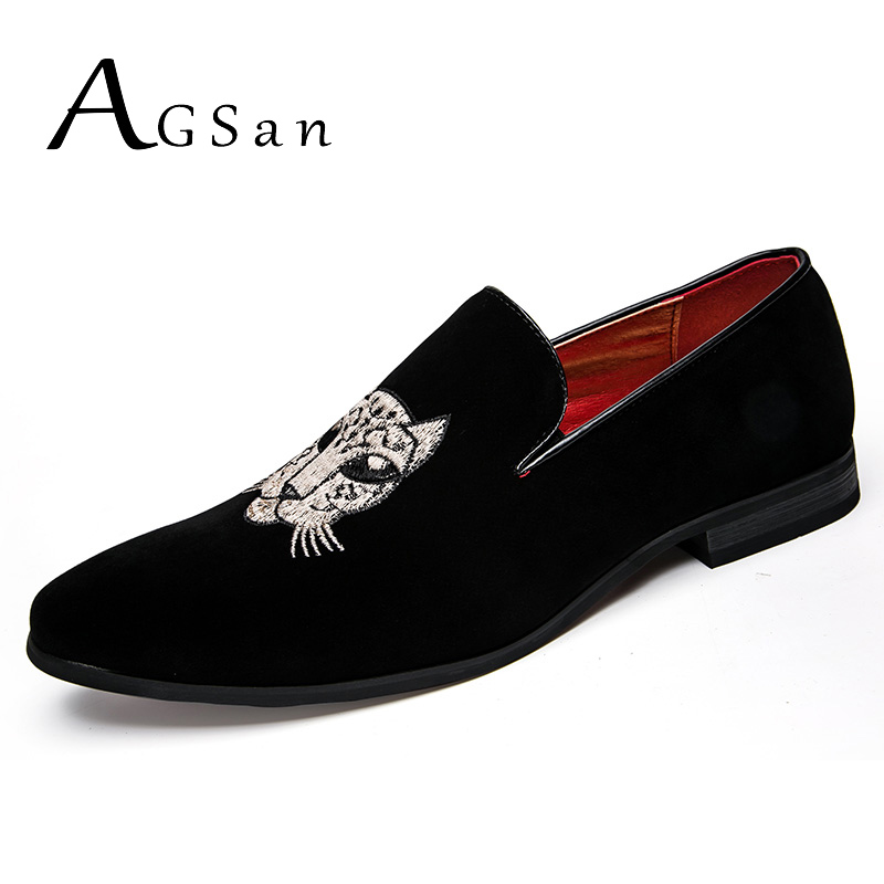AGSan 2018 Spring Loafers Men New Velvet Shoes Black Designer Mens Smoking Slippers Male Wedding and Party Loafers Dress Shoes