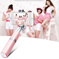Fashion Wired Pink Selfie Stick 180 degree rotation Universal Handheld Selfy Stick For Iphone4 4s 5 5s 6 6s 6plus Android,Galaxy