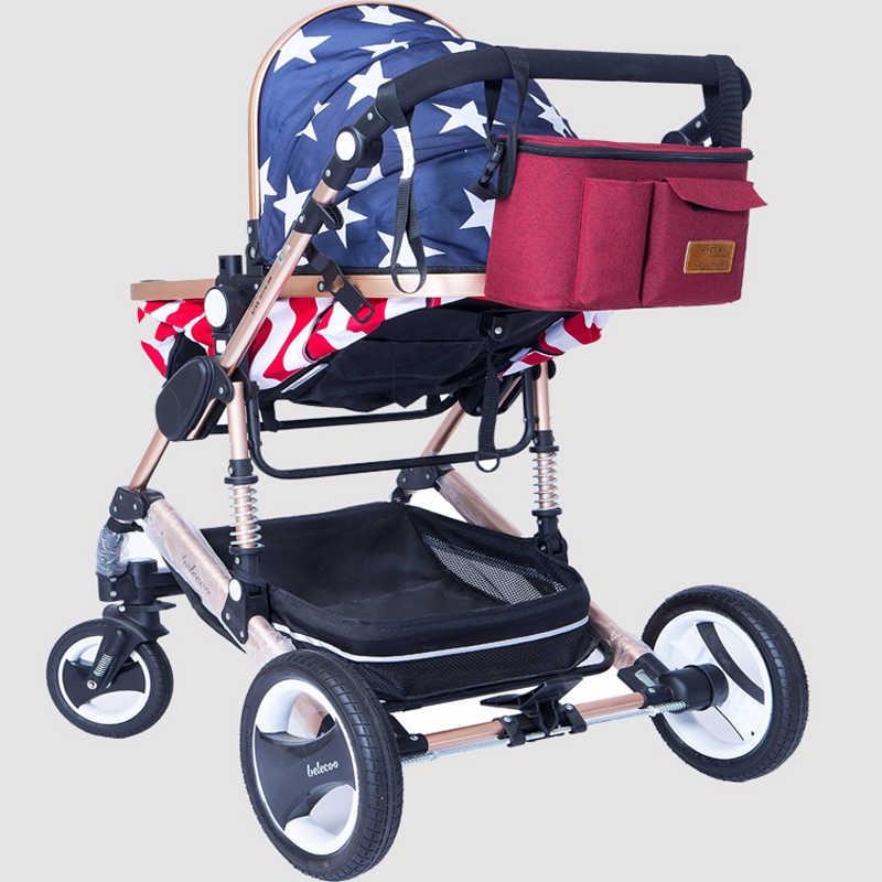 PYETA รถเข็นเด็กทารกอุปกรณ์เสริมกระเป๋าใหม่กระเป๋ารถเข็นเด็ก Organizer รถเข็นเด็ก Buggy Cart Bottle กระเป๋ารถกระเป๋า Yoya