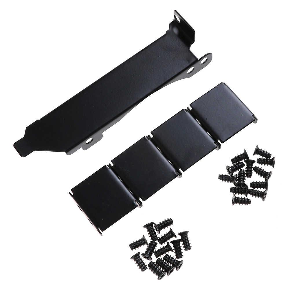 Preto Dupla Fã Montagem Em Rack Suporte Slot Para Placa De Vídeo PCI 8 cm/9 centímetros Fã Fãs 3 Mount rack Suporte de Slot PCI Conectores de Ventilador