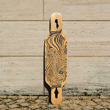 KOSTON pro dancing style drop through longboard deck  with  mixed material,40inch  skateboard deck for board walking