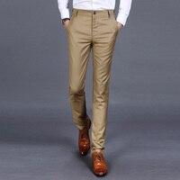 2018 Autumn Pure Color Men Suit Trousers Business Casual Suit Pants Male 4 Color Choice Size 28 38
