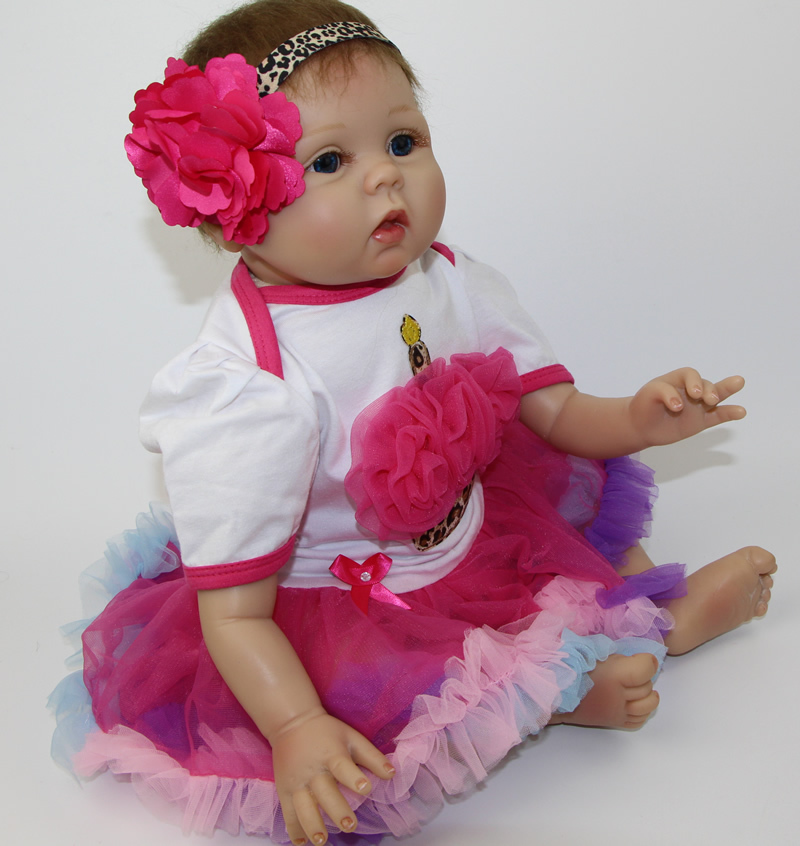 Collectible Doll Soft Silicone 22 Reborn Babies Fashion Realistic Newborn Baby Alive Doll Kids Birthday Xmas Gift цена