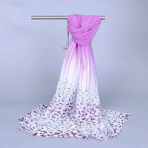 Fashion Leopard Pattern Print Lady Girl Soft Chiffon Long Shawl Scarf Wrap Stole