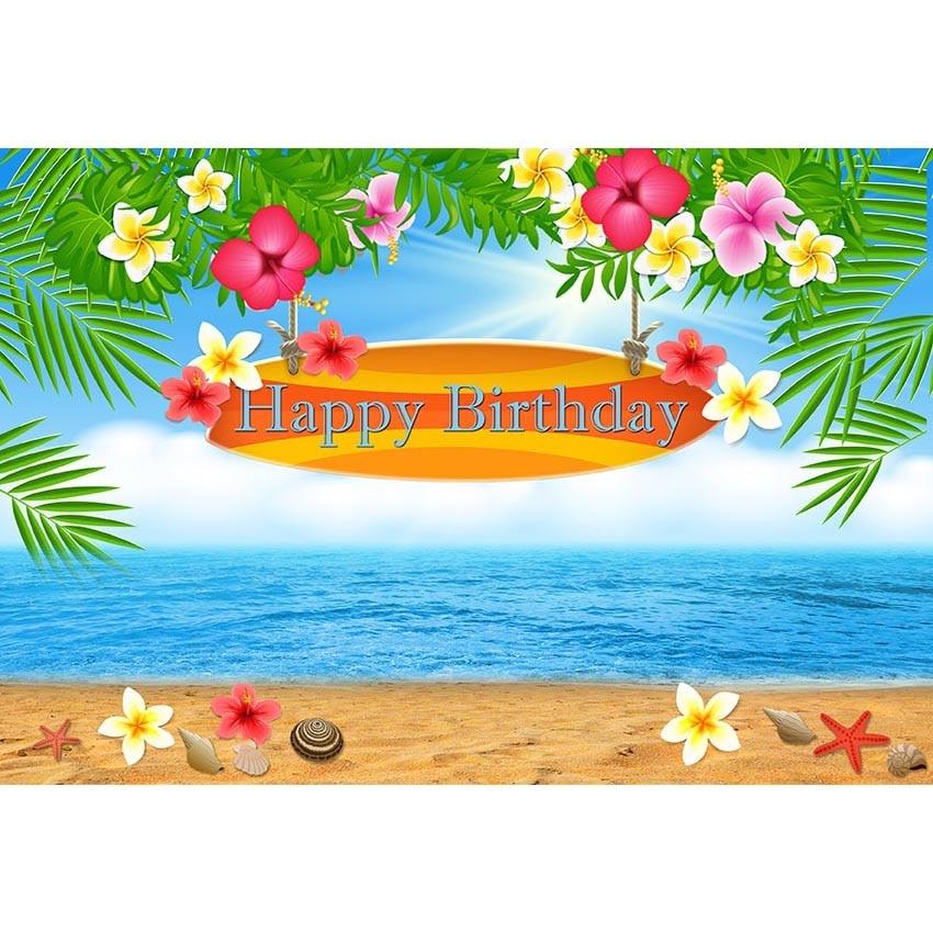 Hawaiian Style Background For Photo Seaside Scenery