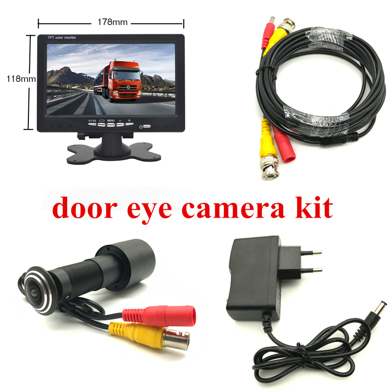 170 Degrees HD Door Eye CCTV Camera System 2MP 1080P AHD Mini Peephole Camera with 7