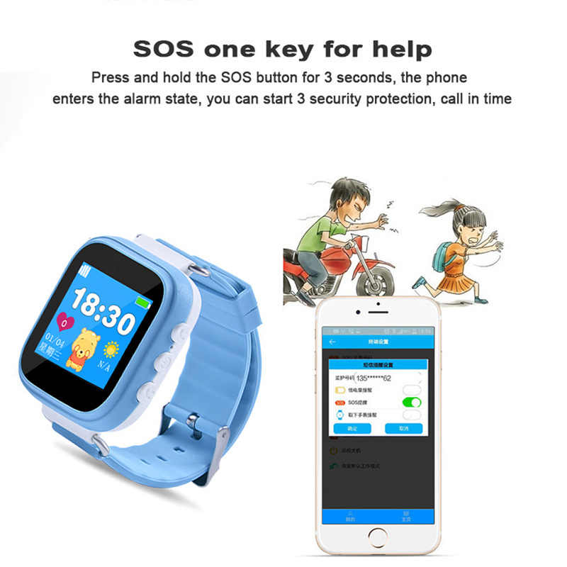 Newest Q80 Q90 GPS Phone Positioning Fashion Children Watch 1.22 Inch Color Touch Screen SOS Smart Watch PK Q60 Q730 Q750 V7K A6