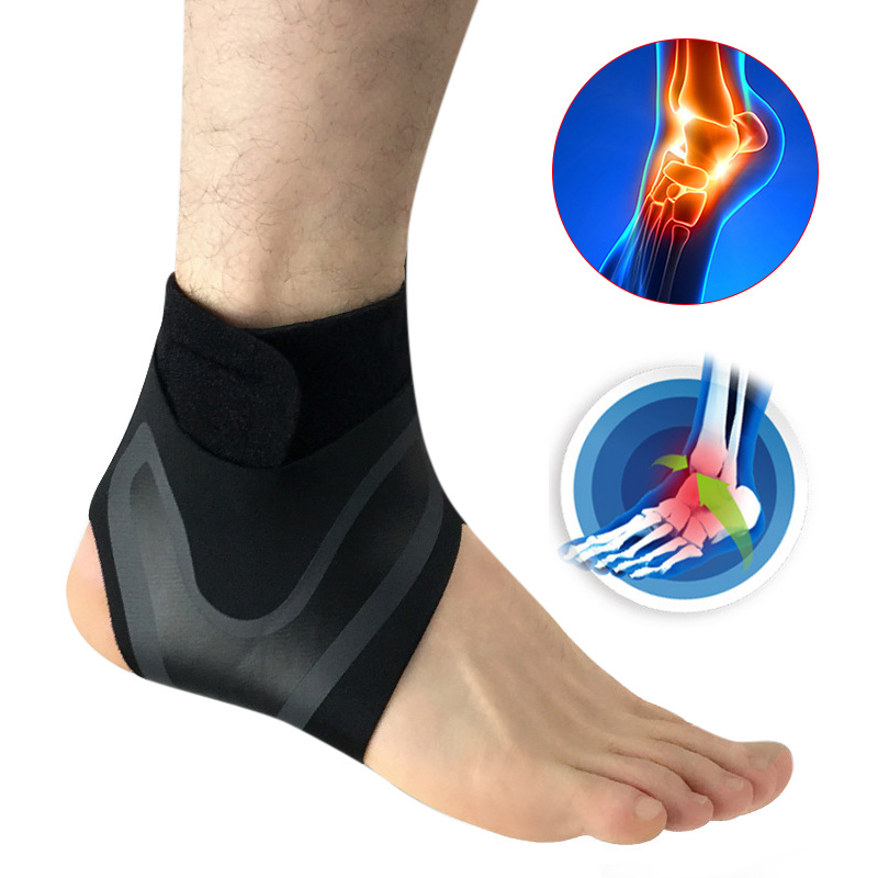 1pcs Left/Right Feet Sleeve Ankle Support Socks Compression Anti Sprain Heel Protective Wrap Sports Ankle Safety Elastoplast