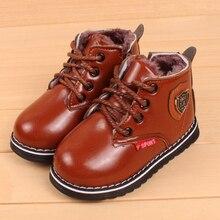 Children Snow Boots Winter Kids Boots Thick Warm ShoesBoys Waterproof Shoes Plush Kids Boy Boots Girls Martin Boots
